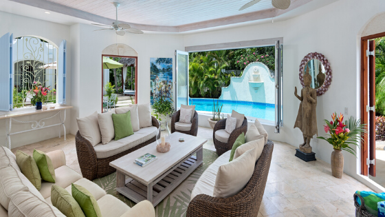 Sitting Area Overlooking The Pool